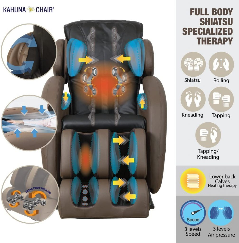 Kahuna LM 6800 massage chair features