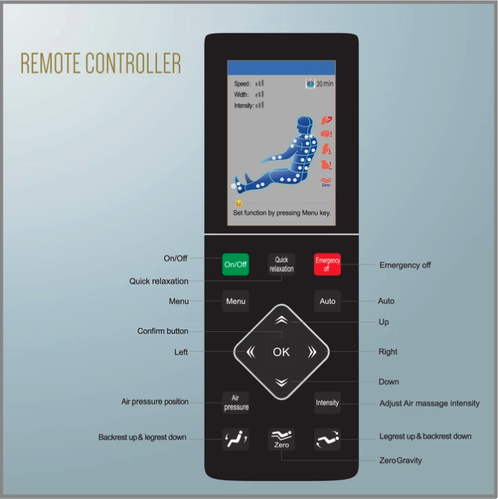 relaxonchair mk 5 remote control