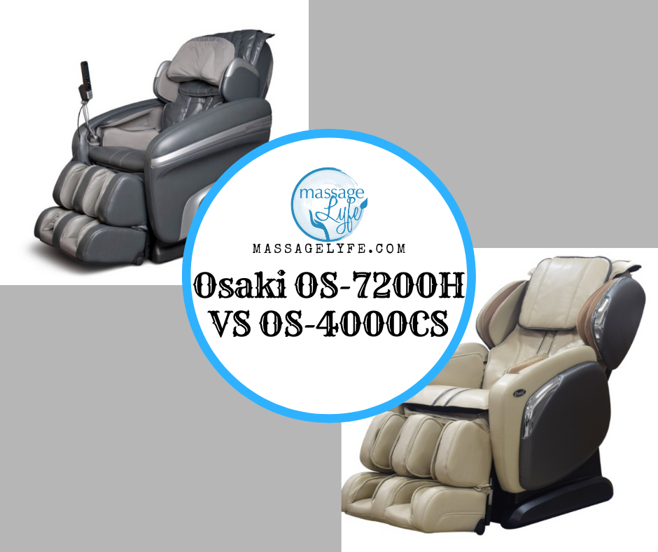 Osaki OS-7200H VS OS-4000CS massage chairs