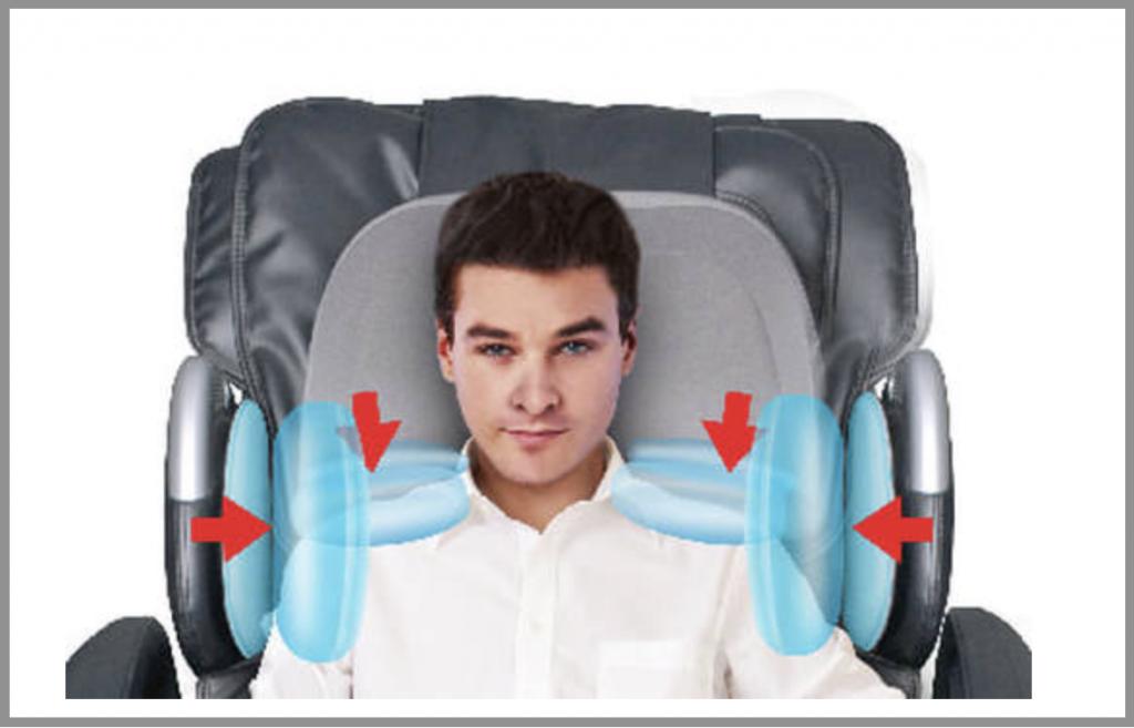 Osaki OS-7200H air bag diagram