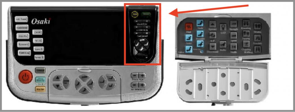 Osaki OS7200H massage chair remote control
