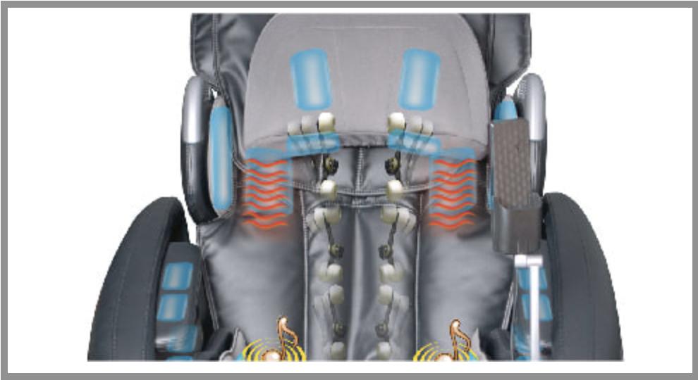 heating pads inside Osaki OS-7200H massage chair