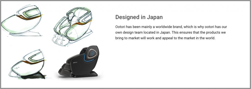 ootori massage chair design