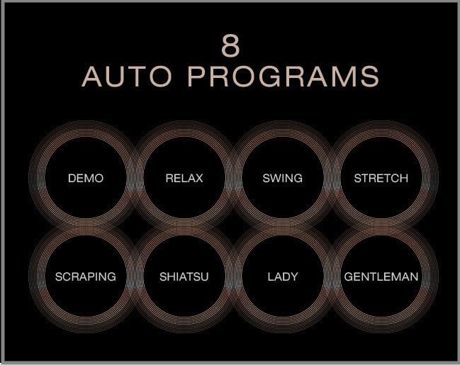 8 levels of massage intensity