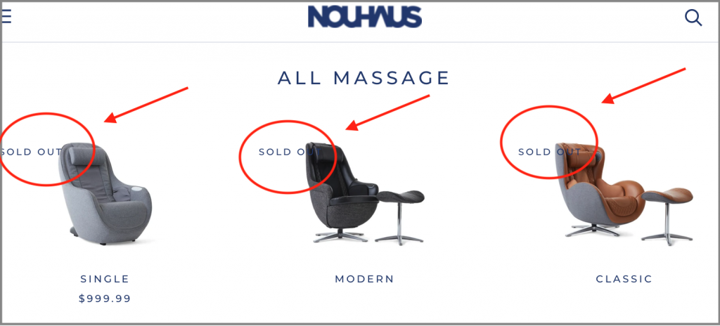 nouhaus massage chair