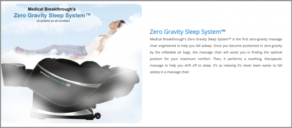 medical breakthrough zero gravity sleep system