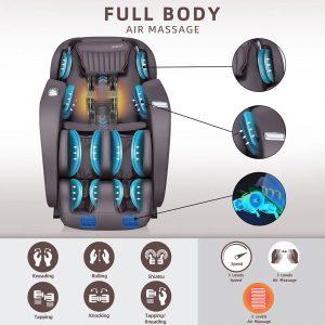 irest 2020 massage chair massage diagram